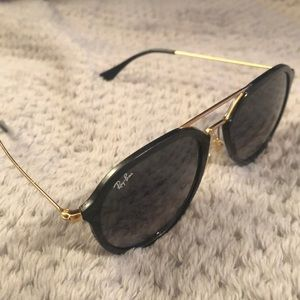 Black Ray Ban's w Gold Metal Accent
